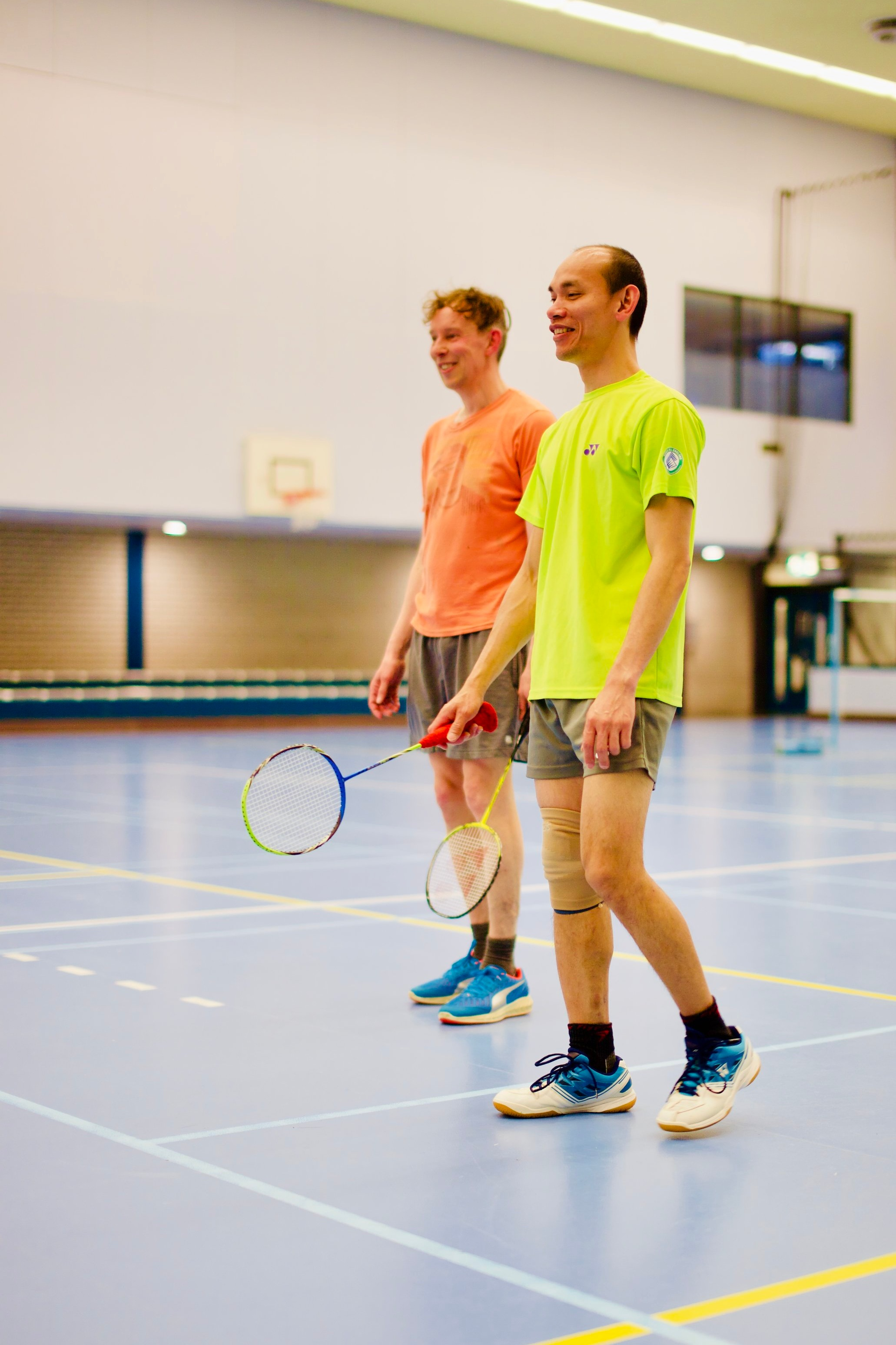 Advanced Wednesdays - On Wednesday evenings, we encourage intermediate to advanced level players to come and play a more competitive level of badminton.We also share the sports hall and interplay with another club then who also play to a more advanced level.