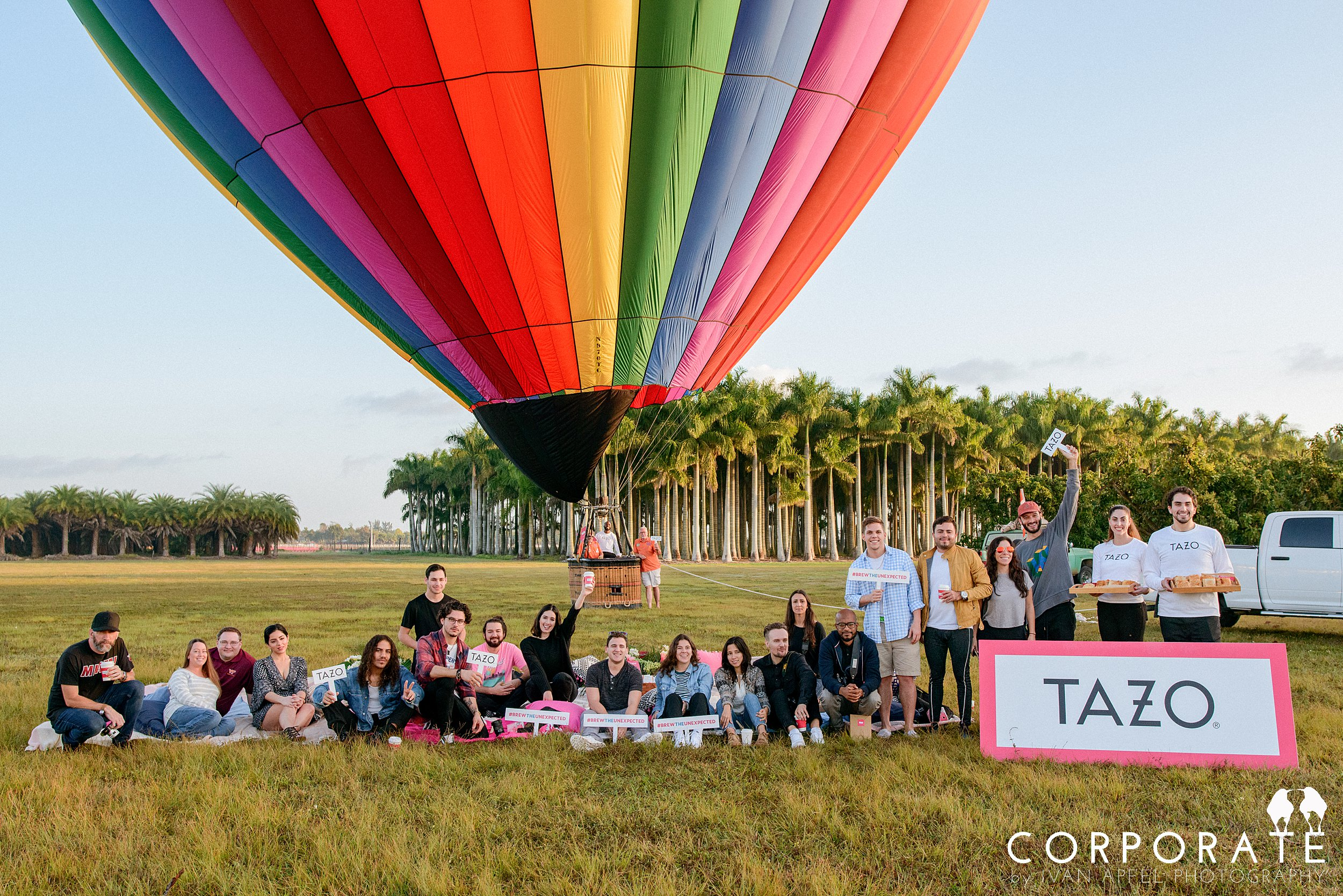 Miami Corporate Experience Photographer Tazo Tea Hot Air Balloon Influencers_0023.jpg