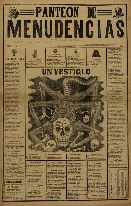 José Guadalupe Posada, Untitled broadsheet, circa 1910, relief letterpress print. Collection of Lineaus Hooper Lorette.