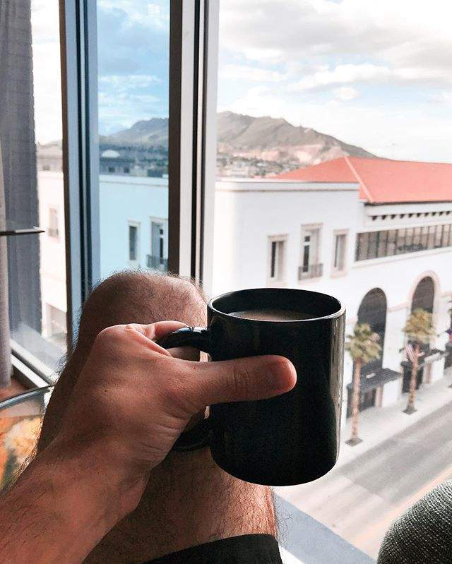 Morning views ☕️ #HotelIndigoElPaso #FranklinMountainsStatePark #Coffeetime #HotelIndigo