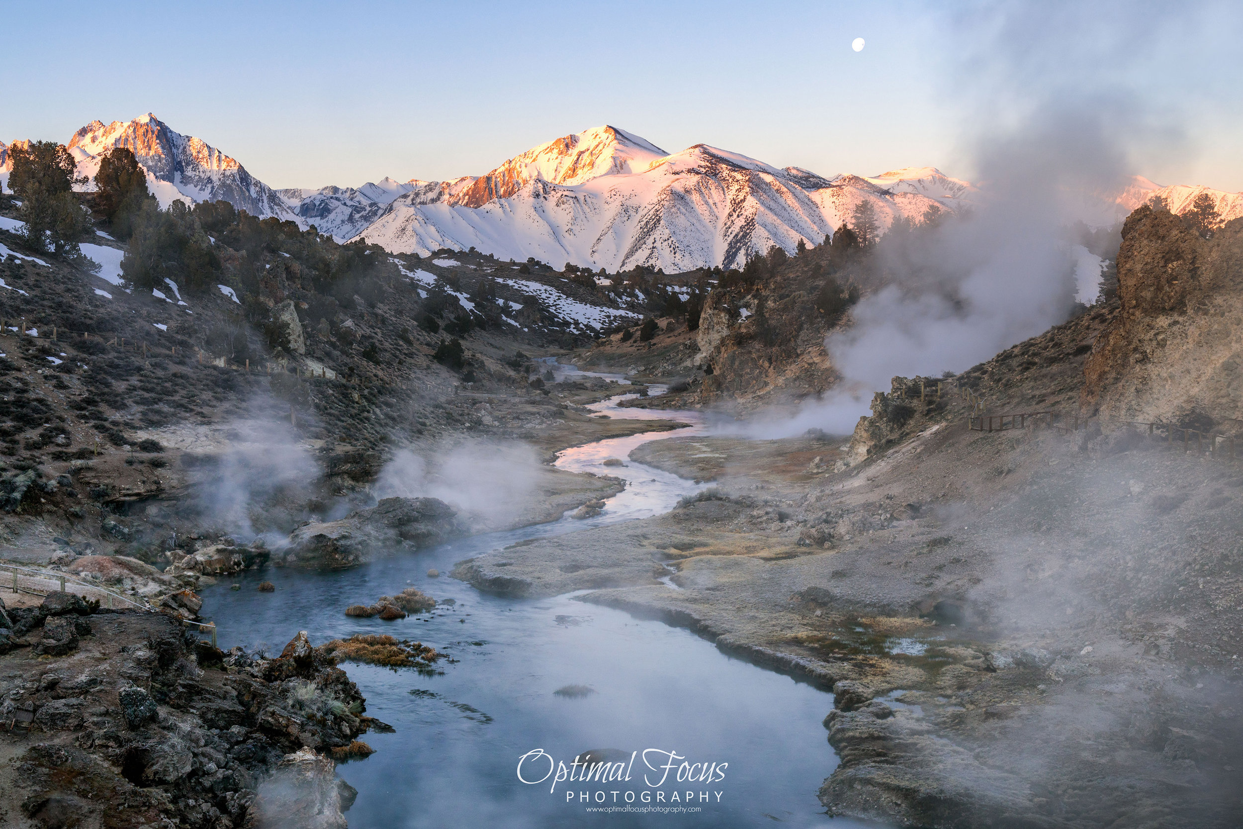 Moonset Over Hot Creek / Beth Young