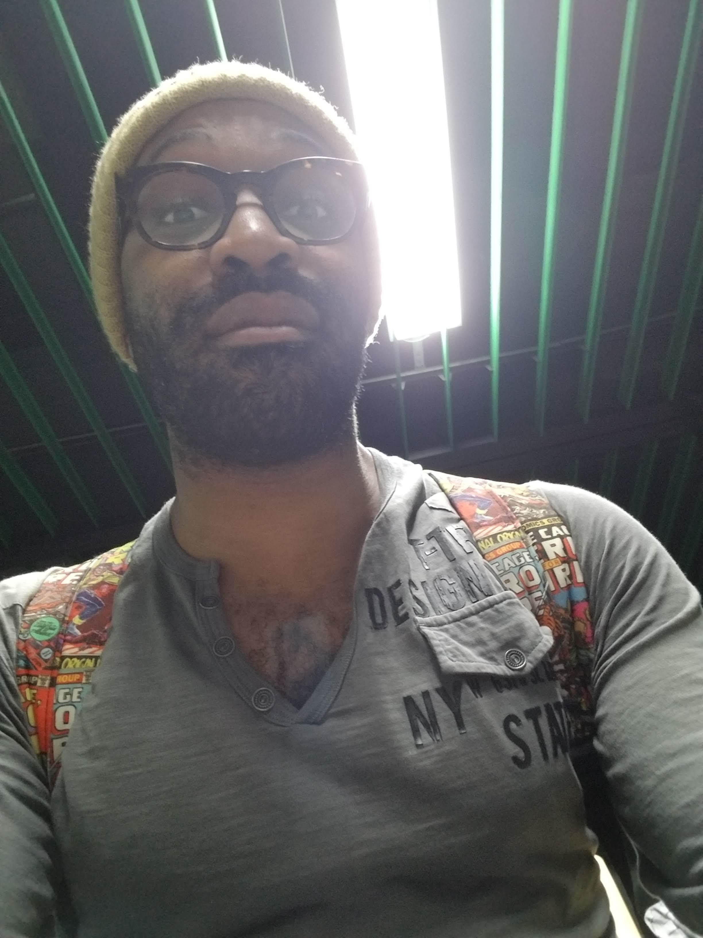 Me in Murtala Muhammed Int'l Airport, 2018. Sweaty.