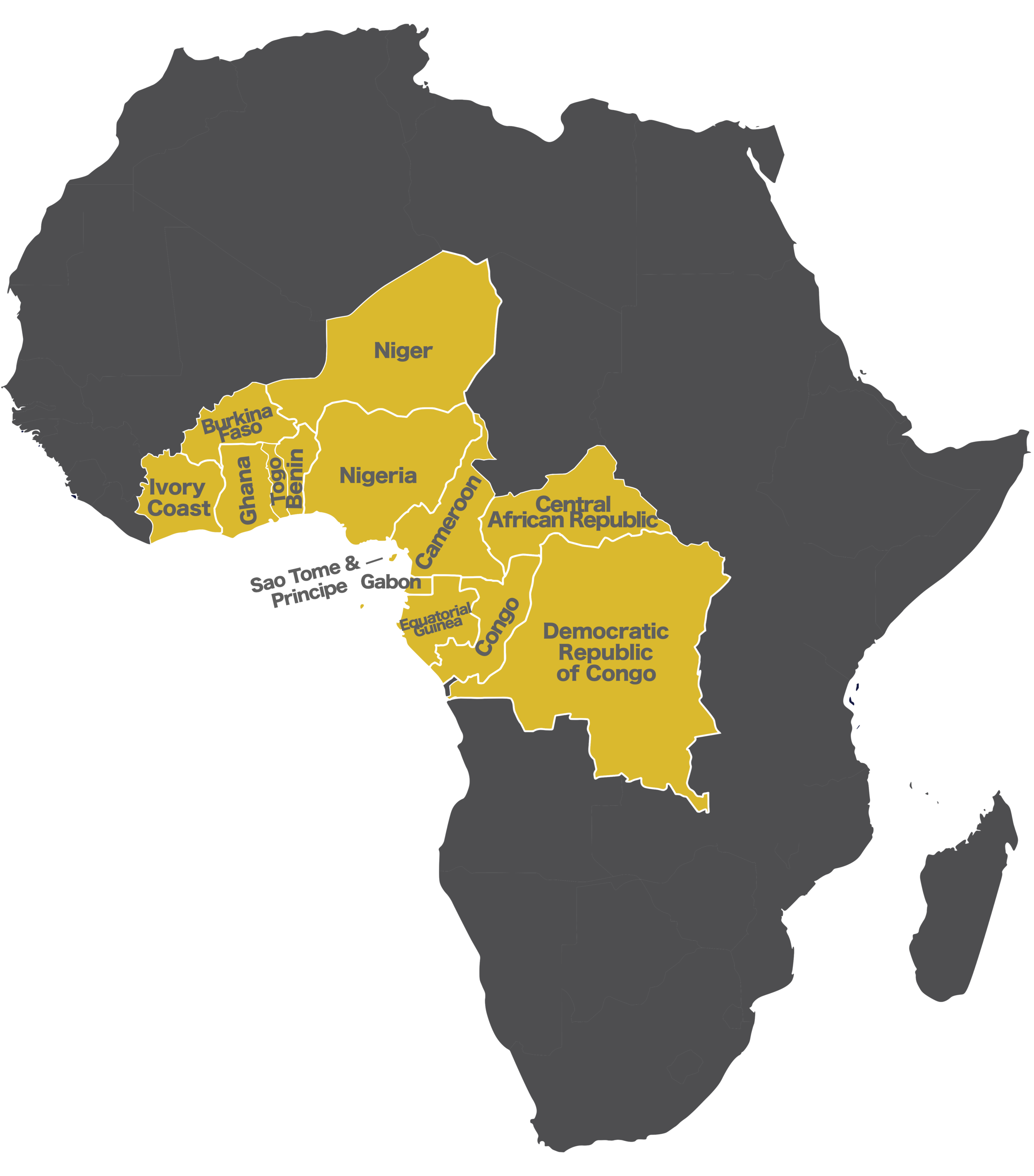 The Great Bend Cluster is a group of 14 countries across West and Central Africa. This 3 million square mile region is made up of over 434 million people which is half the population of all Sub-Saharan Africa. This region also contains some of the highest concentrations of lostness as over 40% of all the Unreached People Groups in Sub-Saharan Africa live in Great Bend. -