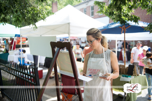 "Pam Long Photography captures an artist working during ""Paint It"" in Ellicott City."
