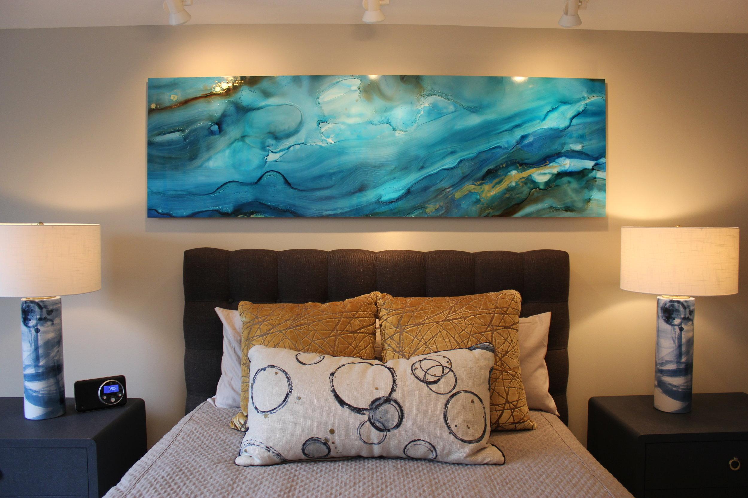 Custom abstract art master suite cross keys baltimore.JPG