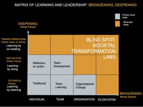 Figure 6: Matrix of Learning and Leadership: Broadening, Deepening