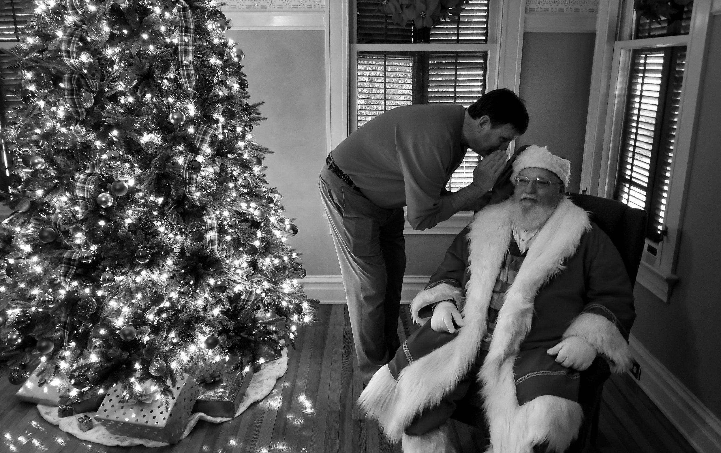 Mayor Alexander and Santa