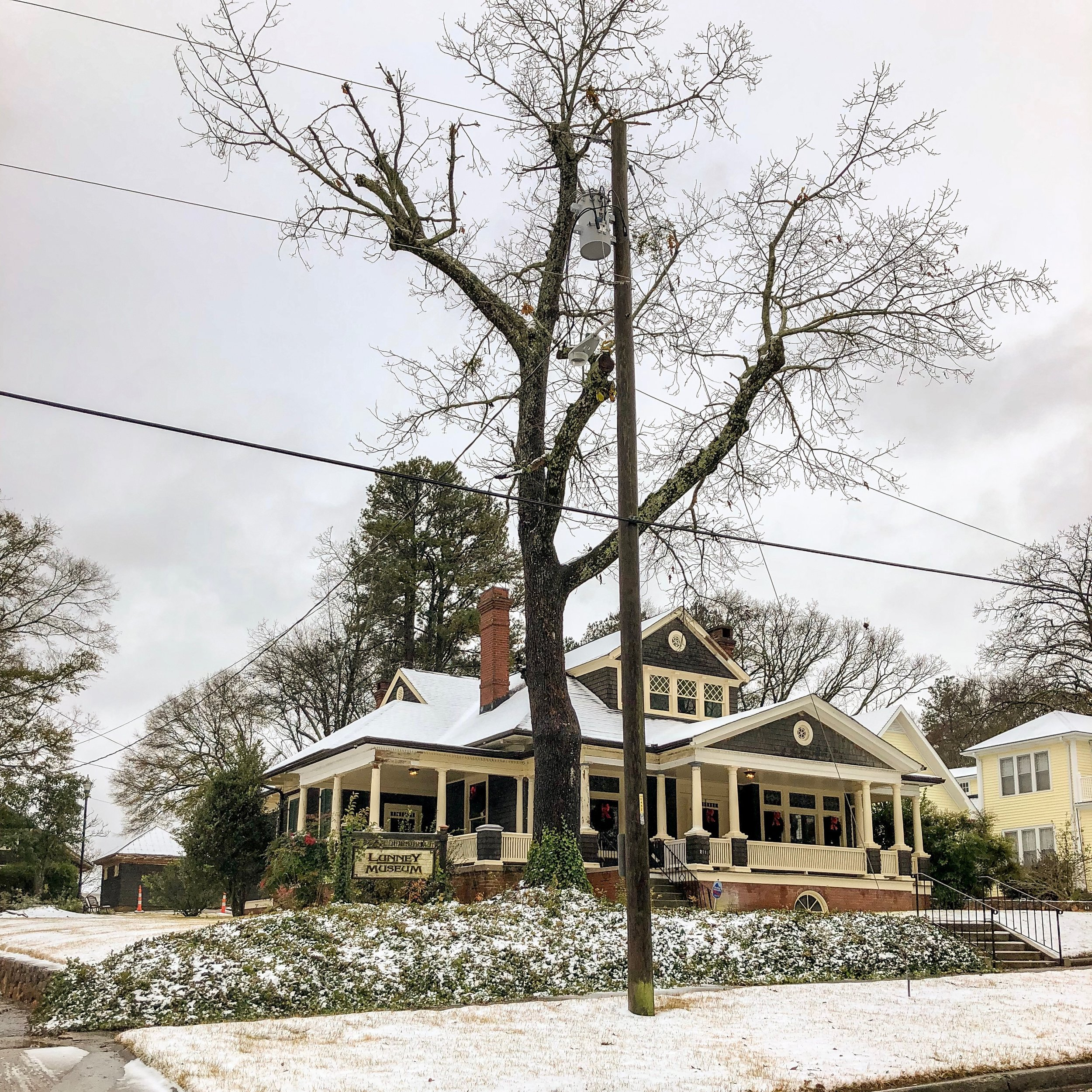 Lunney Museum in the Snow