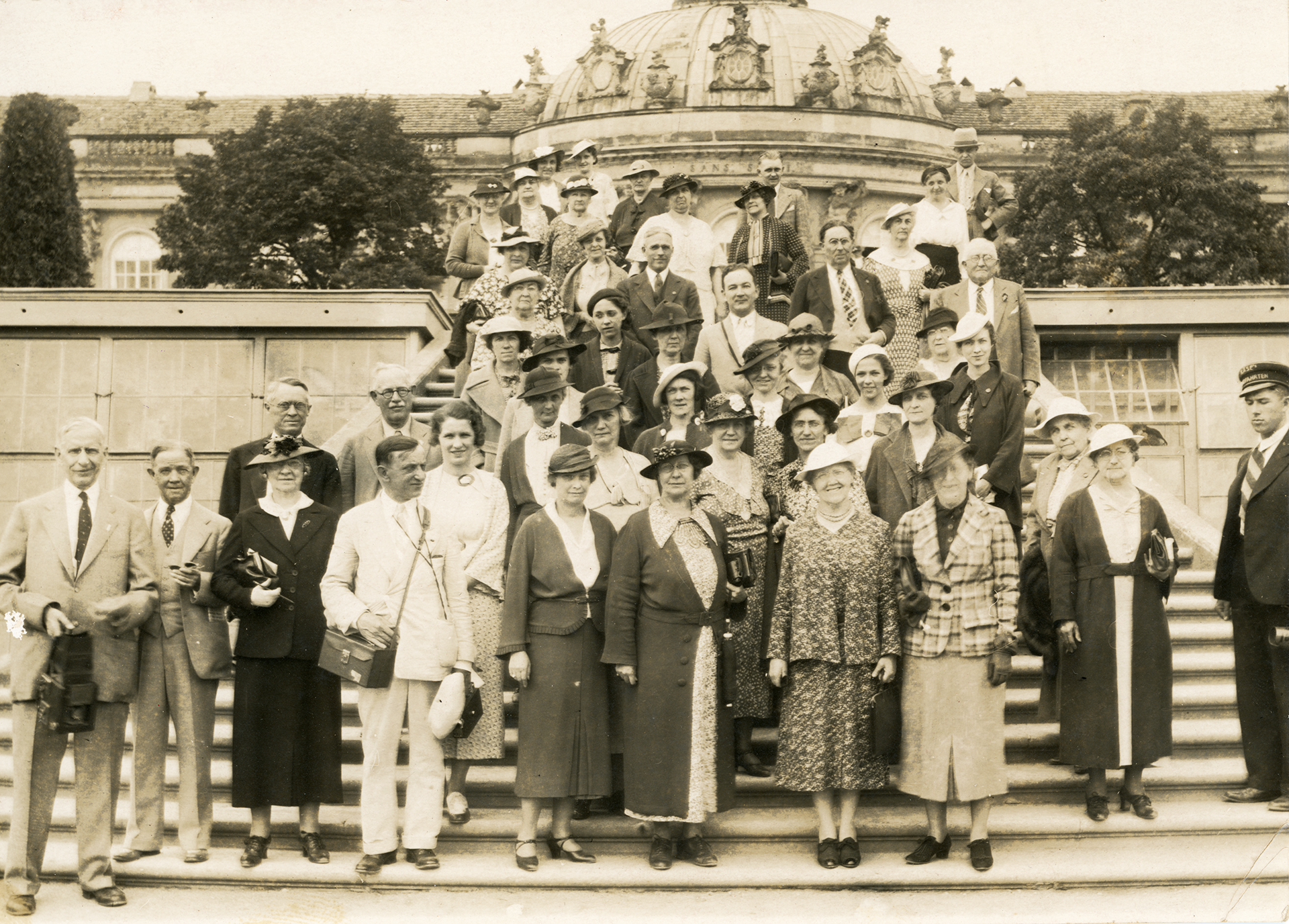 Picture of the Goodwill Christian Tour Group, including Mrs. Lilian Lunney, in Germany on July 21st, 1936.