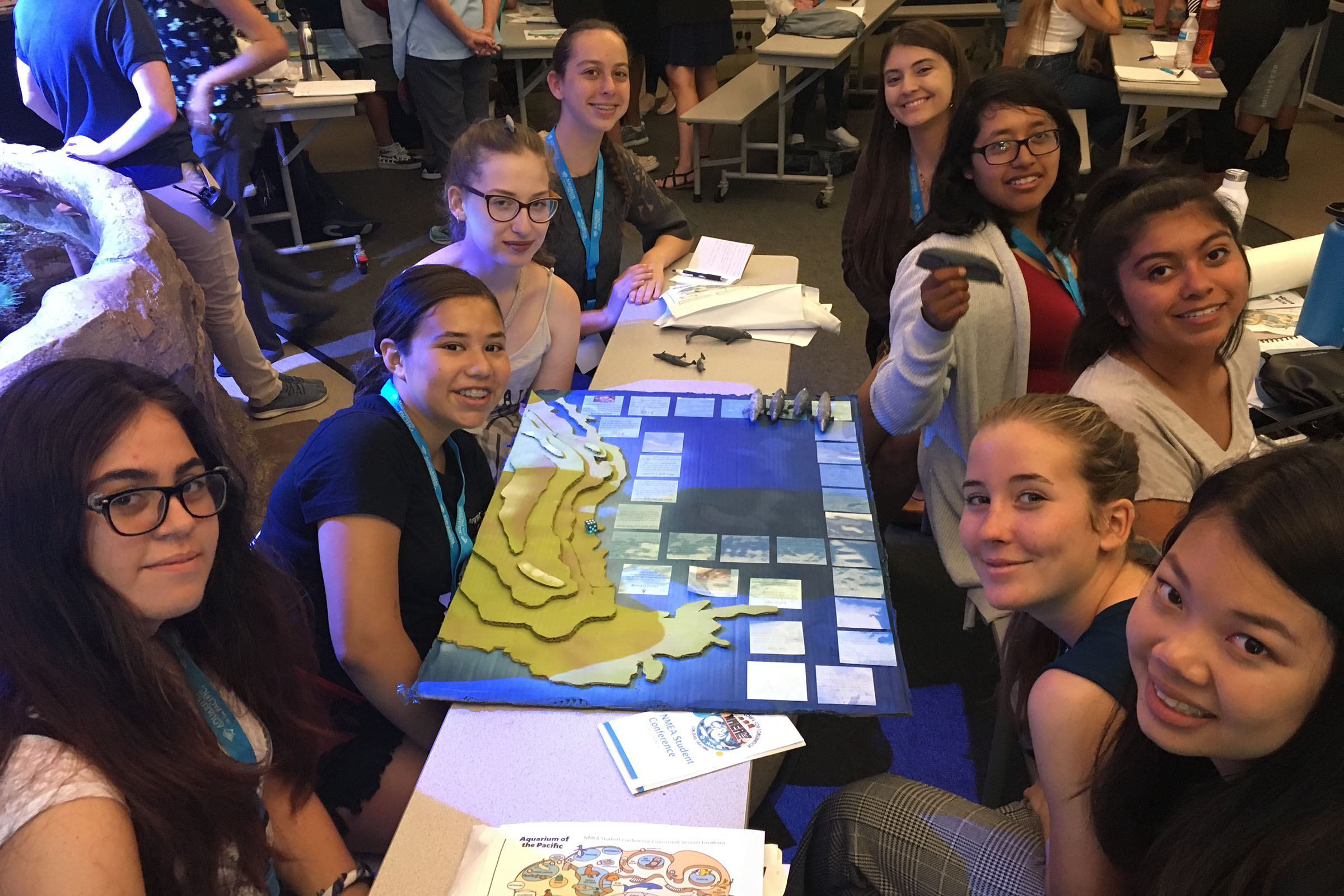 Youth engaged in an activity at the 2018 Student Conference