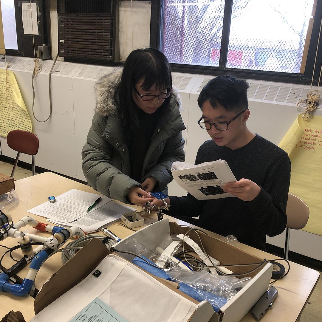 Jason Zheng and Karen Huang, John Dewey High School, building control box