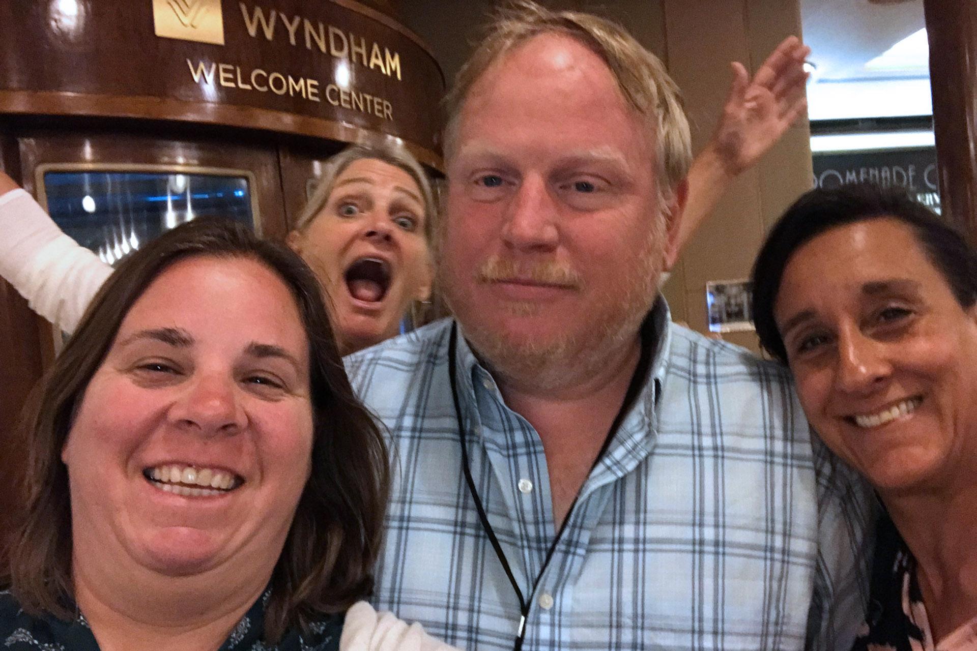 David Christopher, Diana Payne, Susan Haynes, and Lauren during the Long Beach 2018 Scavenger Hunt