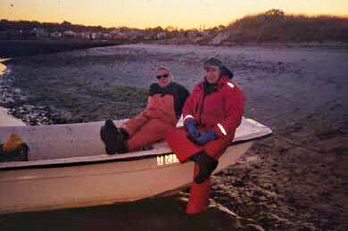 Thaxter Tewksbury and Lauren enjoying a beautiful sunset