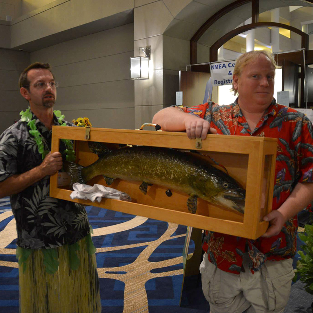Adam Frederick and David with the Pike at NMEA 2014