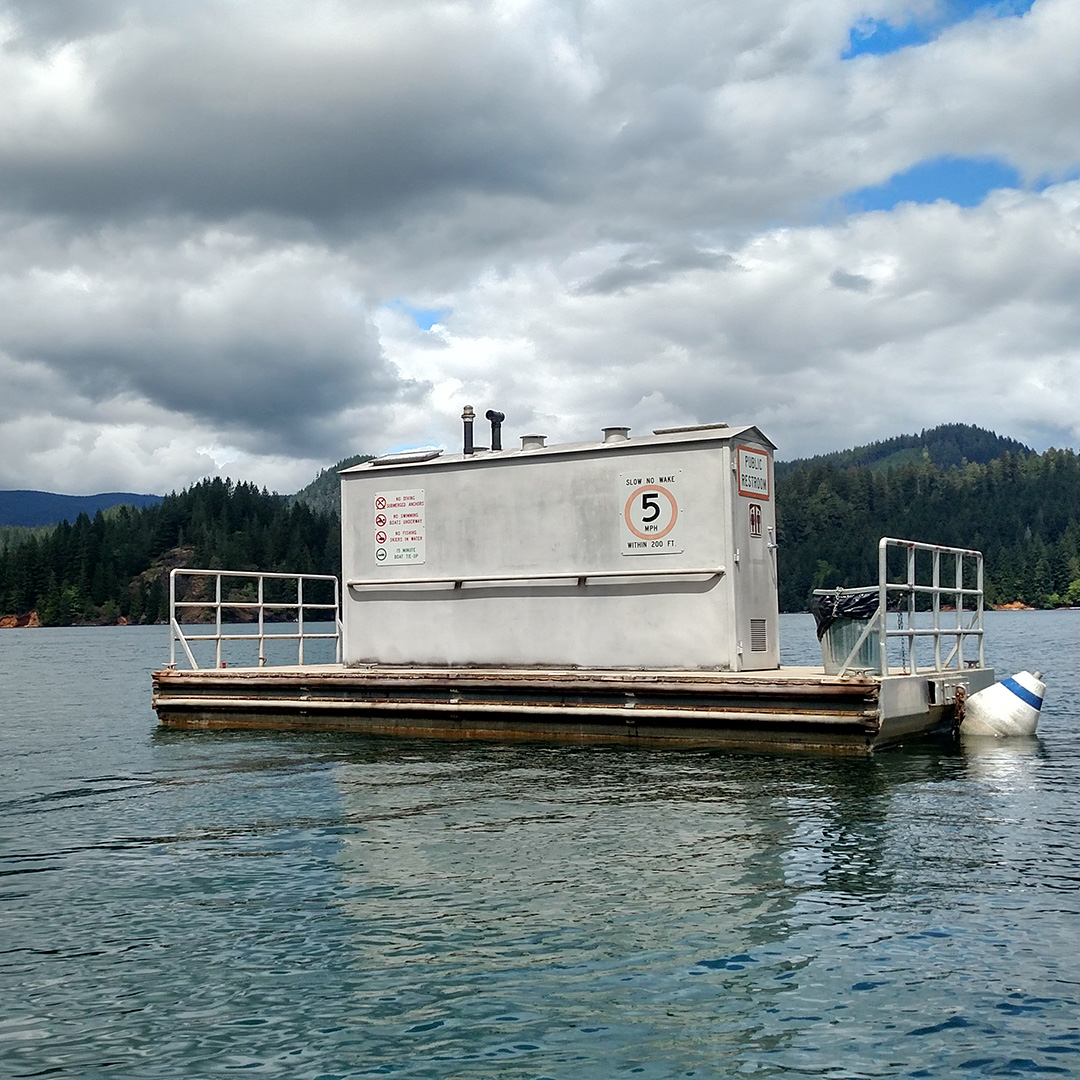 Boaters in Oregon have access to floating restrooms while they are out on the water