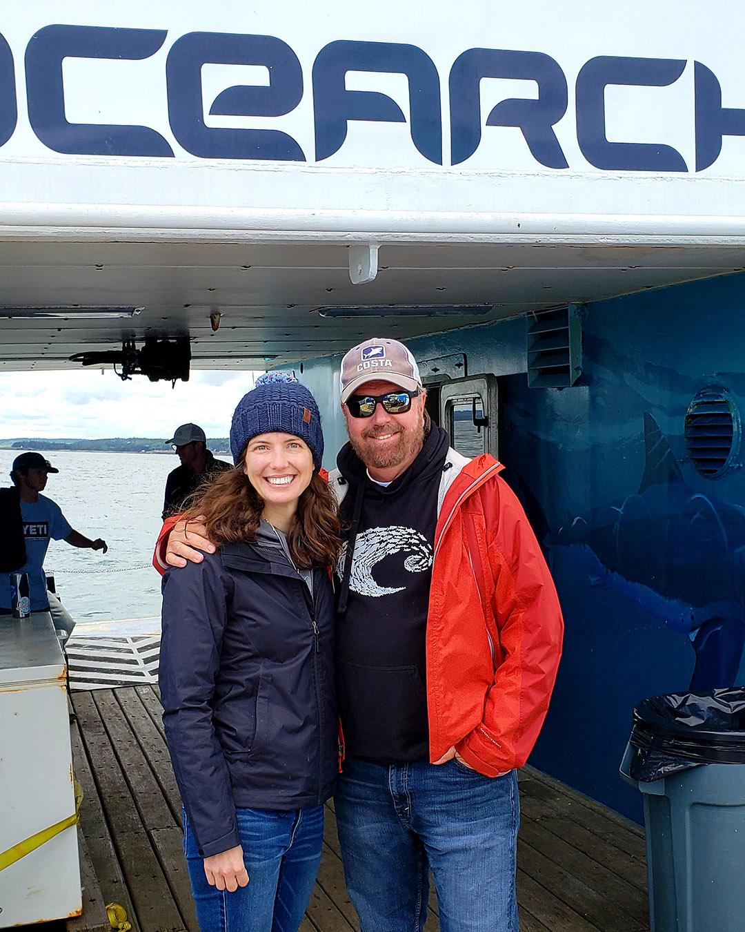 Lindsay with Dr. Robert Hueter