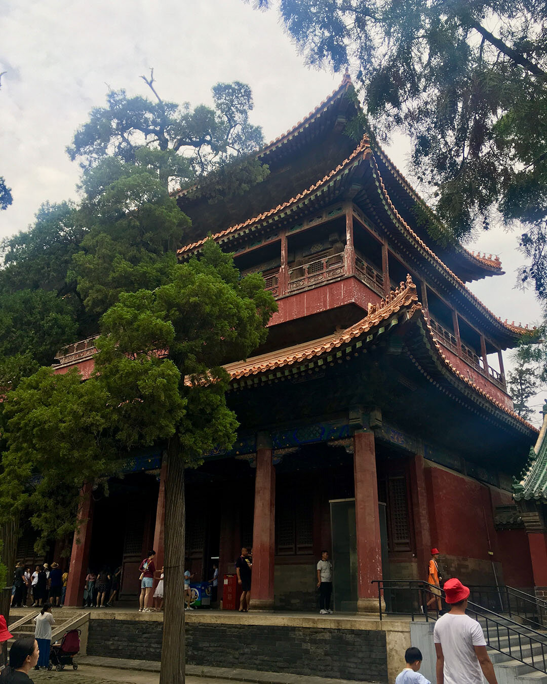 One of the many intricate and beautiful buildings within Confucius Park in Qufu