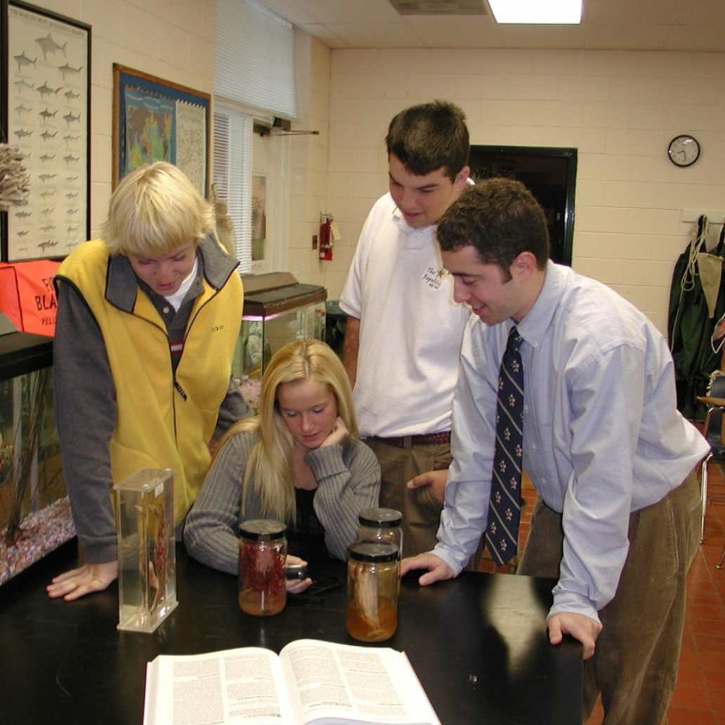 Chris taught marine science and AP Environmental Science at a boarding school on the Chesapeake Bay in Virginia.