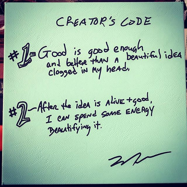 #Creator's Code by Mark Hoverson .  #getit #start #perfectitlater #entrepreneurlife
