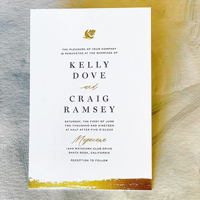 Check out these invitations printed for @paperbythebay  These were letterpressed, foil debossed and foil embossed on @craneandco 220lb lettra.  #letterpressprinting #foilprints #embossing #weddinginvitations #czarpress #customprinting #customprint