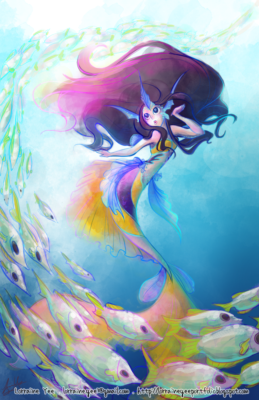 swirling school of fish