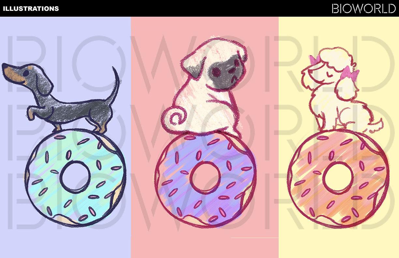 Doggies on Doughnuts