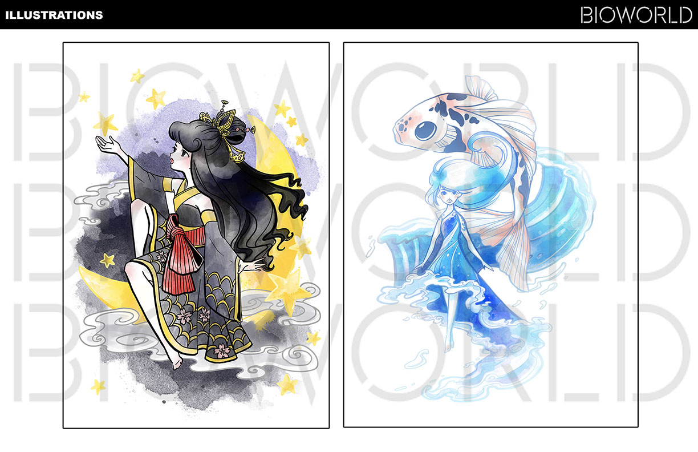 Anime Pop Illustrations