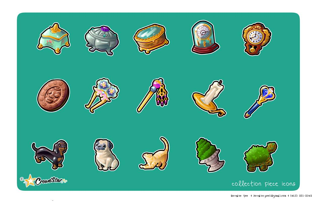 decor icons created for Mermaid World for Crowdstar