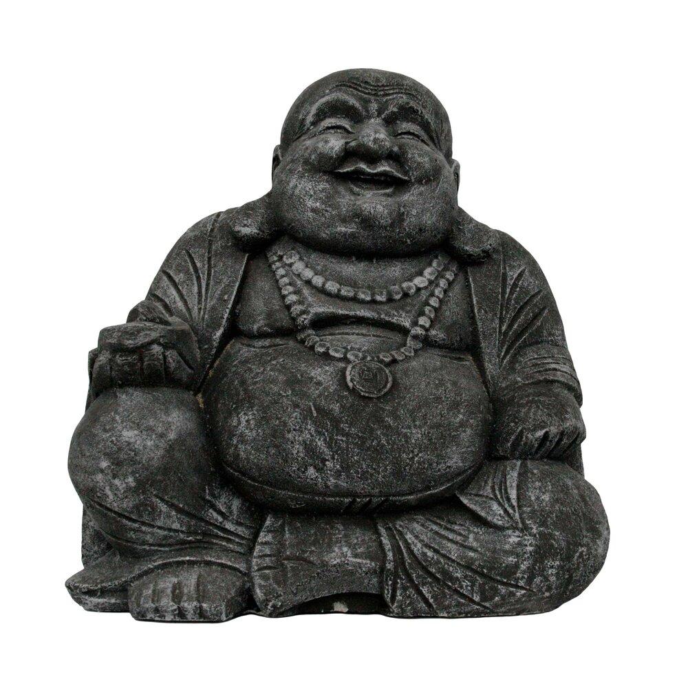 Cement Fat Buddha Garden Statue Asia West
