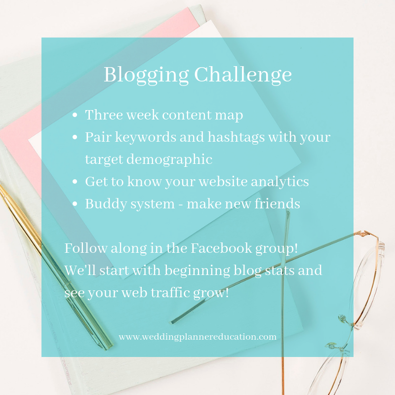 Join the challenge! Sign up to receive the introduction email with information about getting started in the free three week blogging challenge.