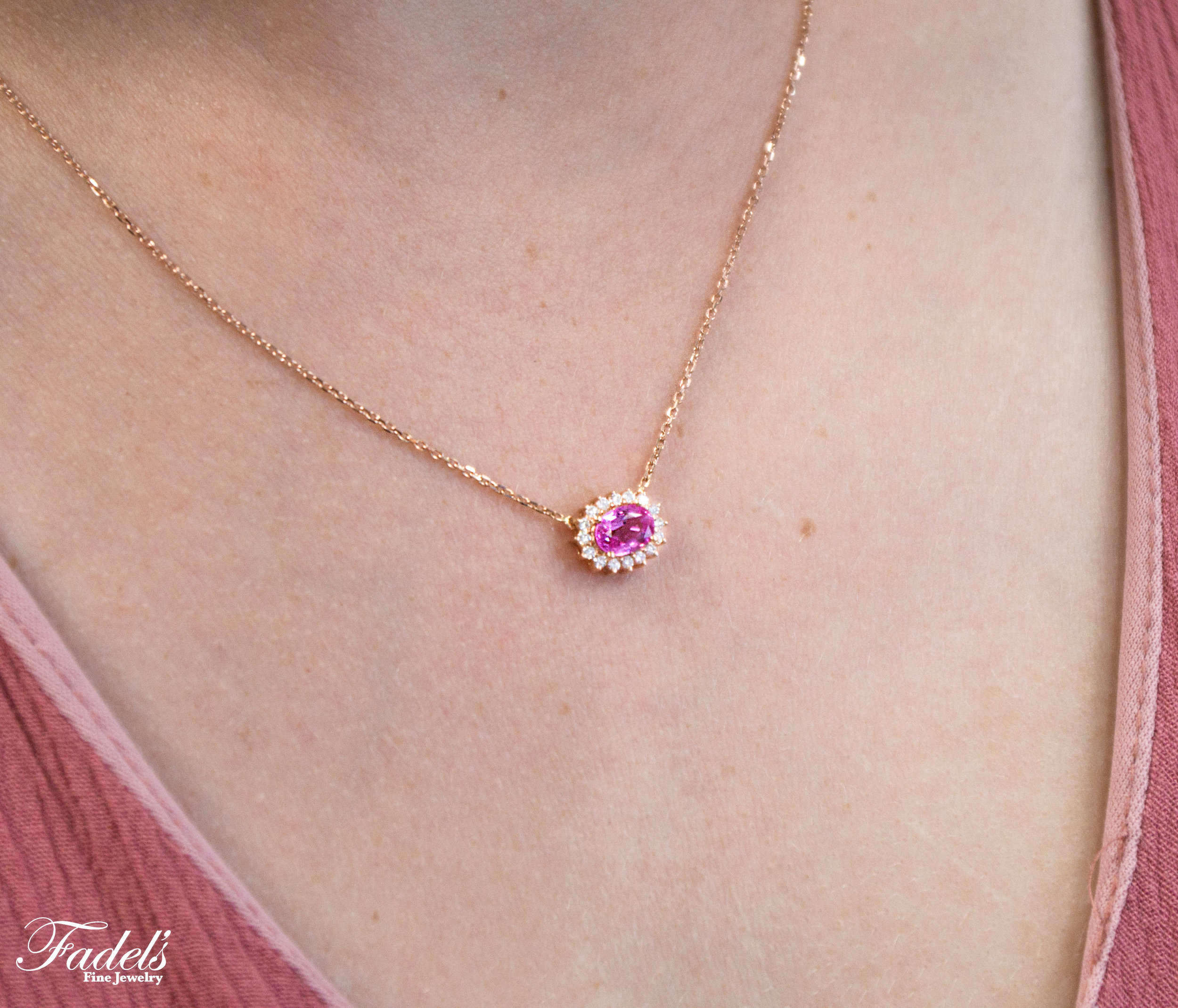 14kr pend. with pink sapphire and surronding diamonds.JPG