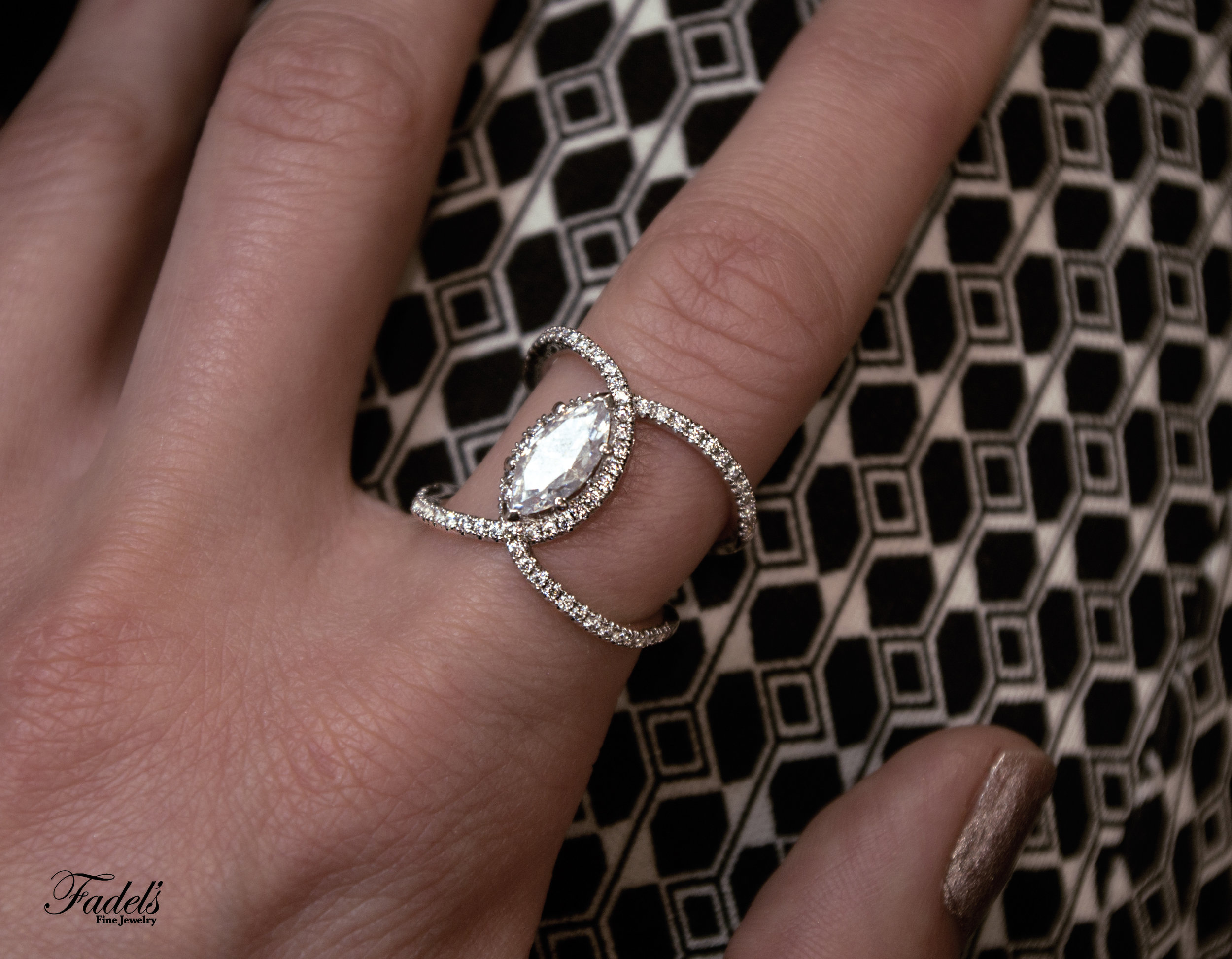 Right Hand Ring 14KW with diamonds with Marquis center.JPG