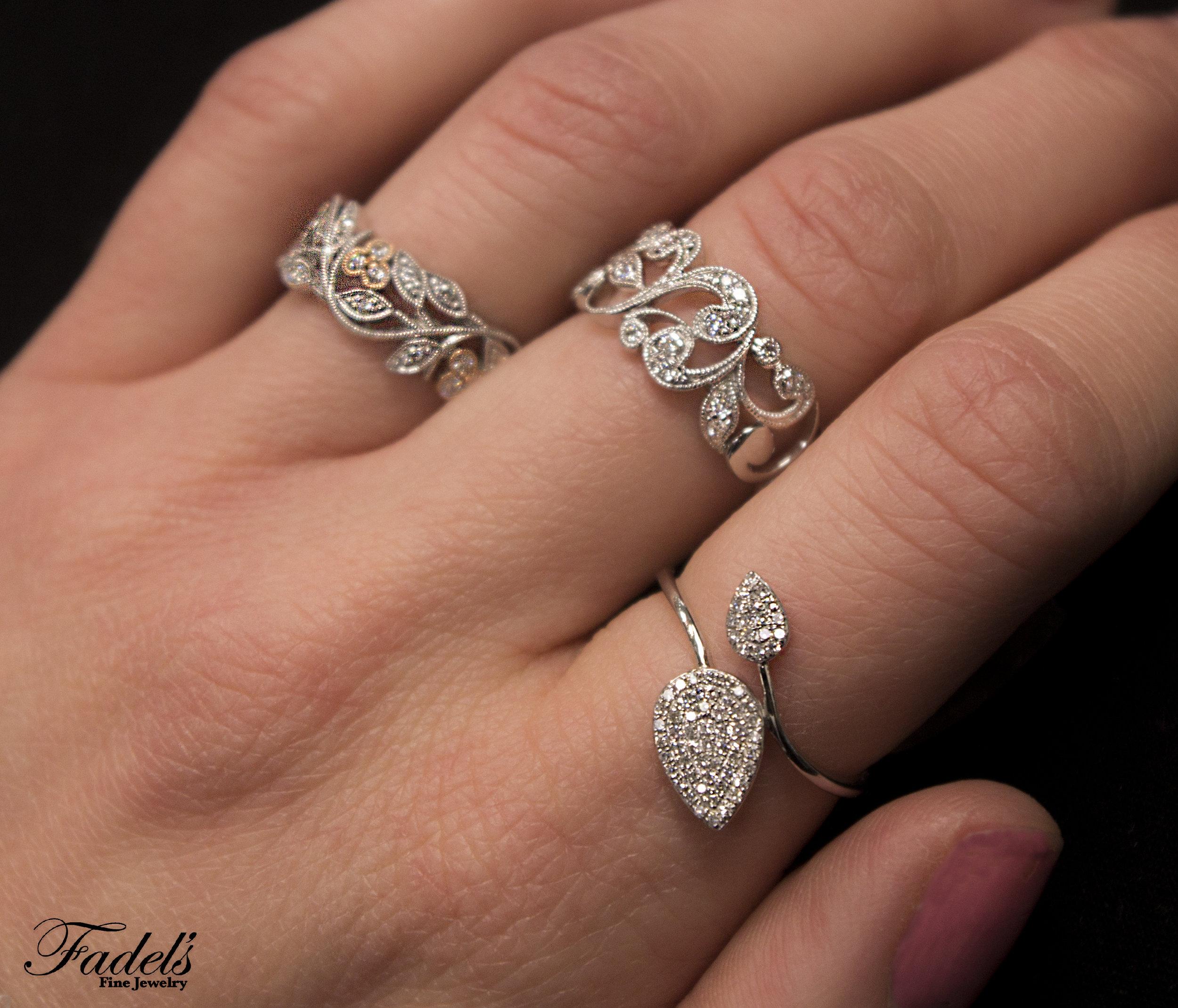 Right Hand Rings 14KW Diamond Rings .JPG