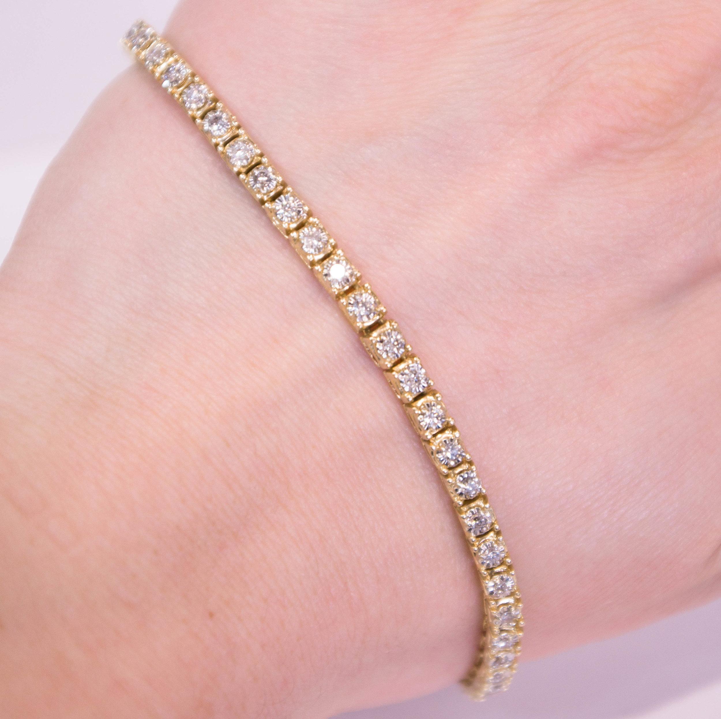 Estate 14Ky Diamond Bracelet.JPG