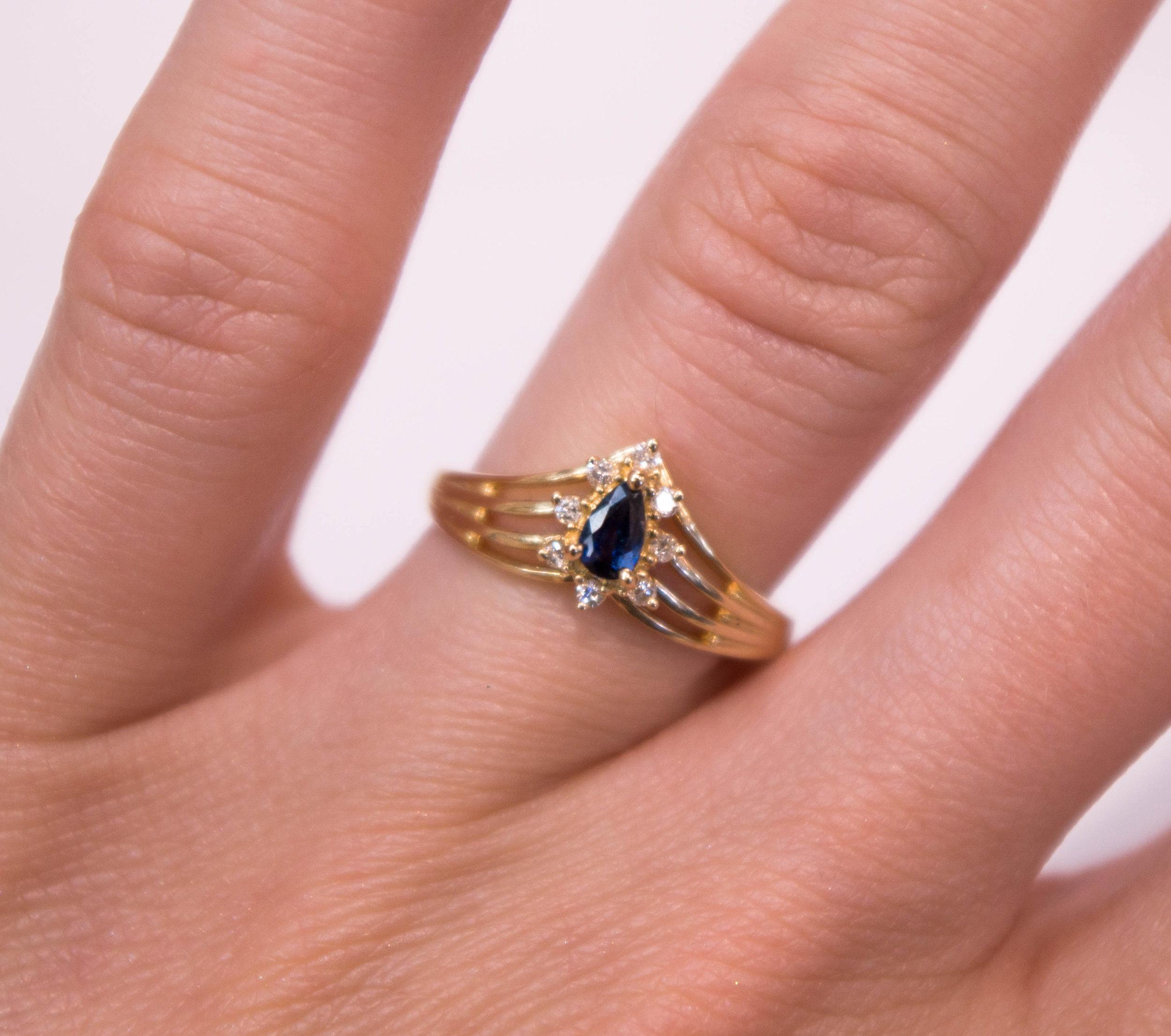 Estate Sapphire and diamond ring.JPG