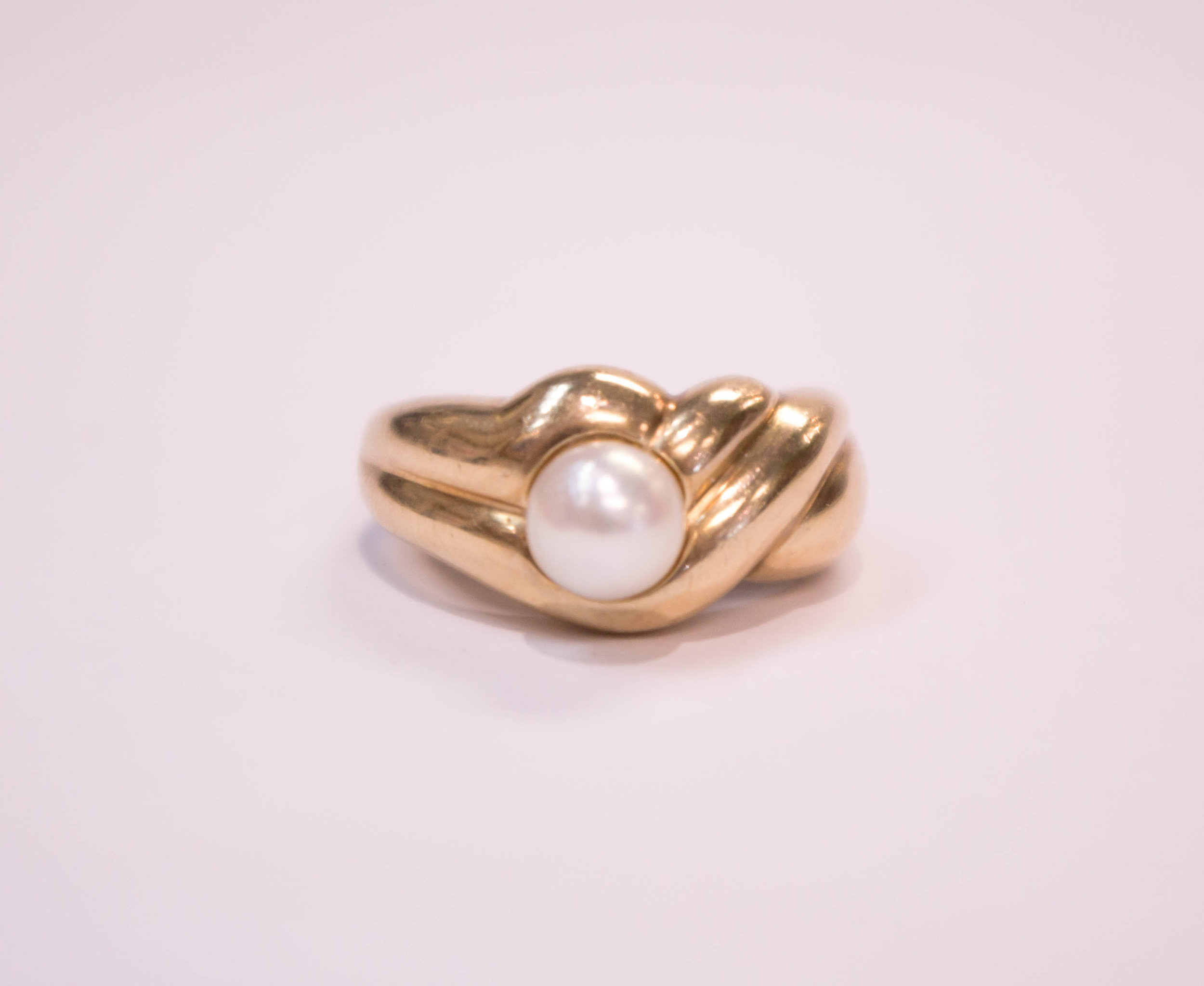 Estate 10K yellow gold Pearl solitaire 2.JPG