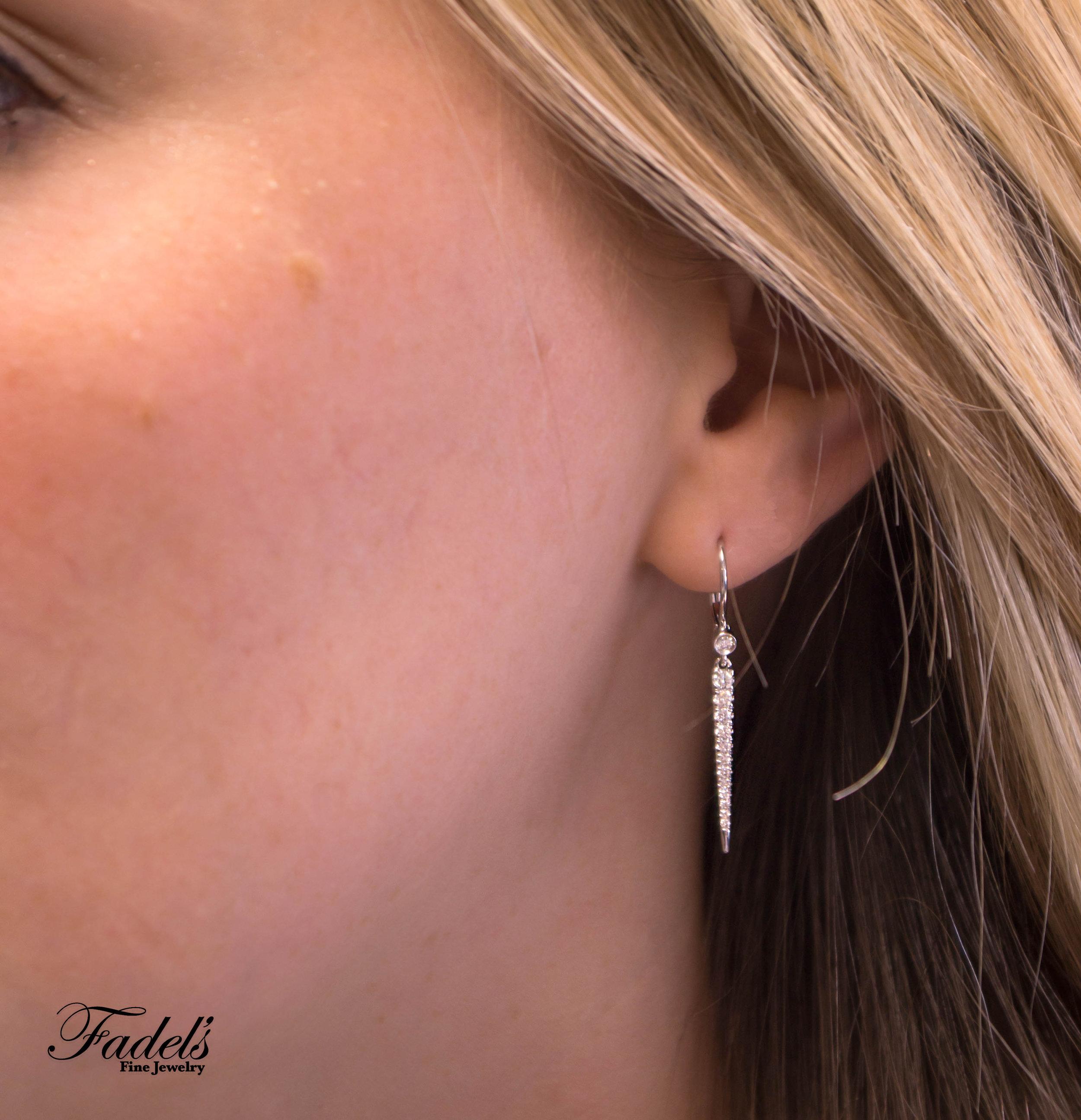 Earrings Gabreil Fashoin Point Dangle Earring 14kW Diamonds.JPG