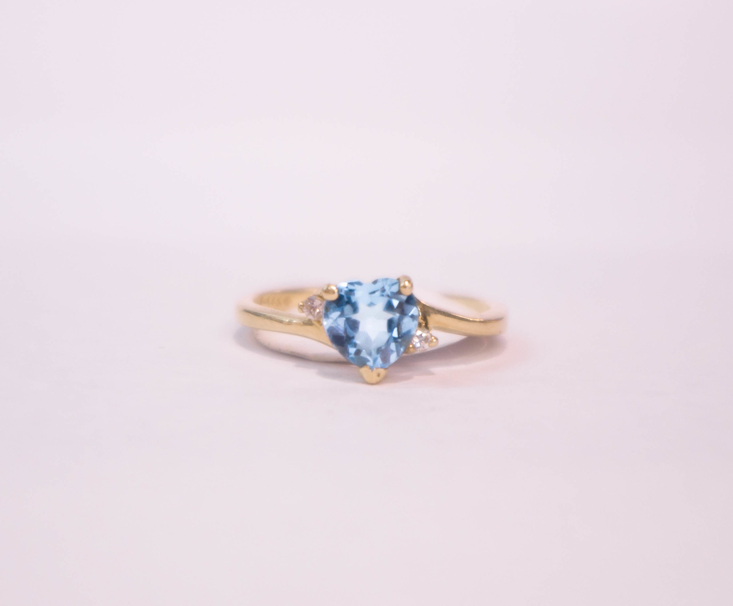 Estate Blue Topaz Heart with diamonds in 14kY.JPG