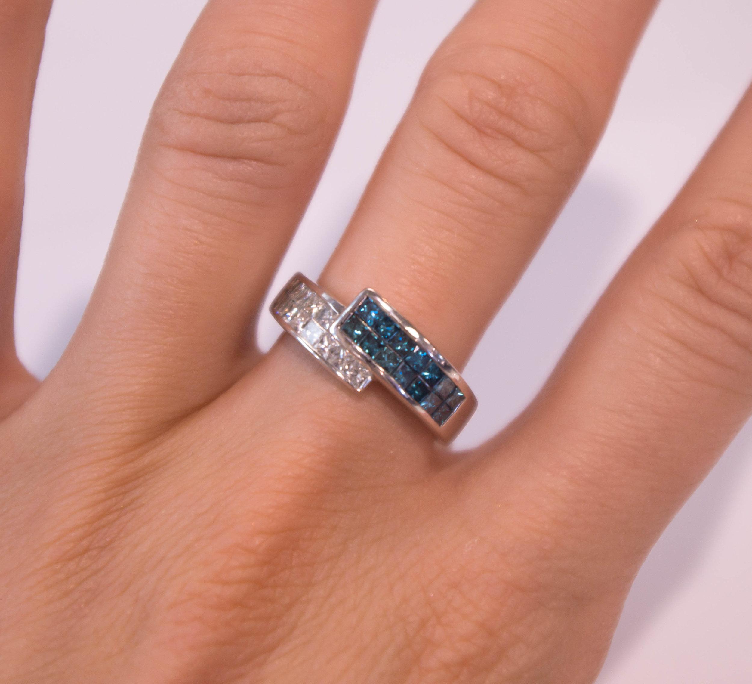 Estate Blue and white diamonds 14k.JPG
