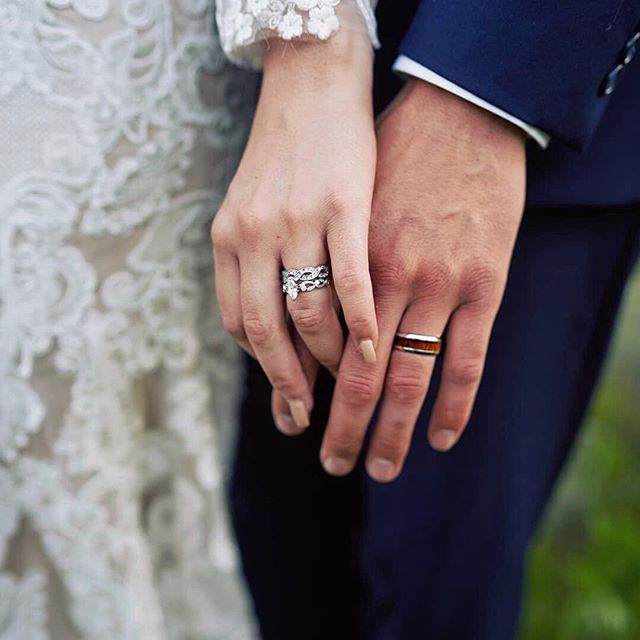 """""""Beautiful rings!!! Thanks to God, my husband, and Fadel's Fine Jewelry!"""" -Emily M. 💍💕 Thank you for sharing your special day with us, Emily & Austin!"""