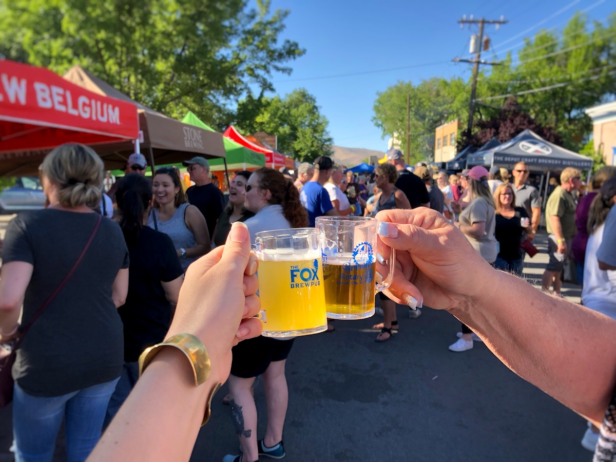at the end of june, Over 30 regional breweries exhibit at Capital city brewfest. proceeds benefit the local rotary club.