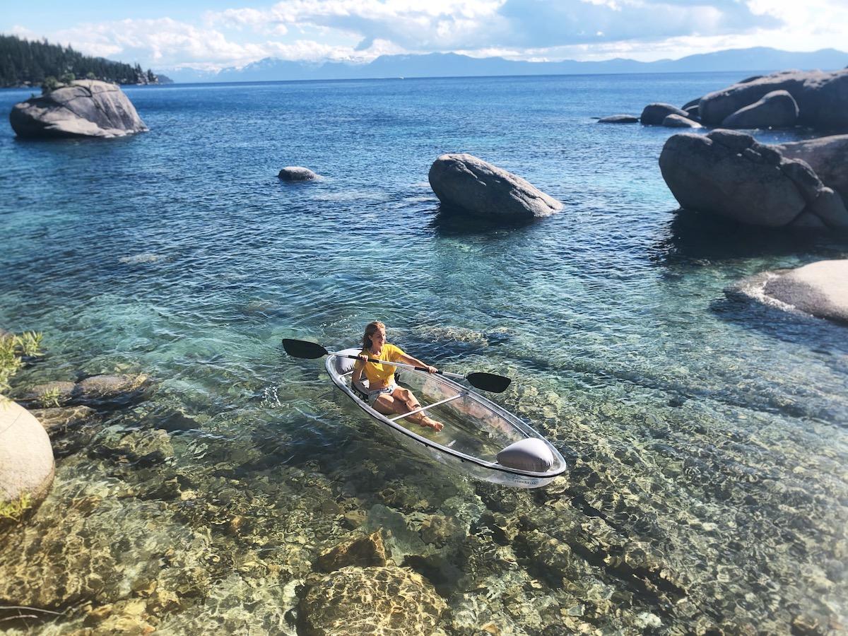 clear kayaking lake tahoe and clear bottom kayak lake tahoe