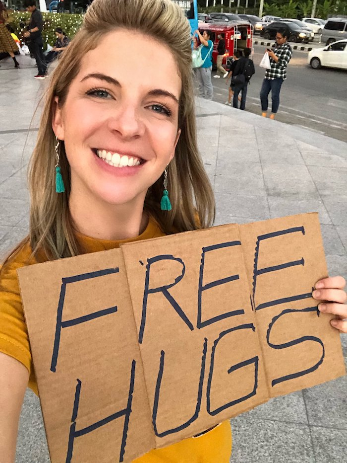 Helping Others Free Hugs
