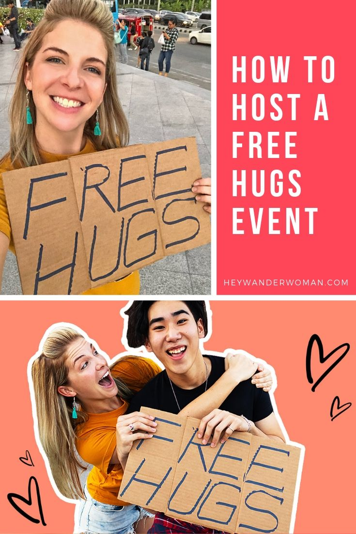 how to host a free hugs event