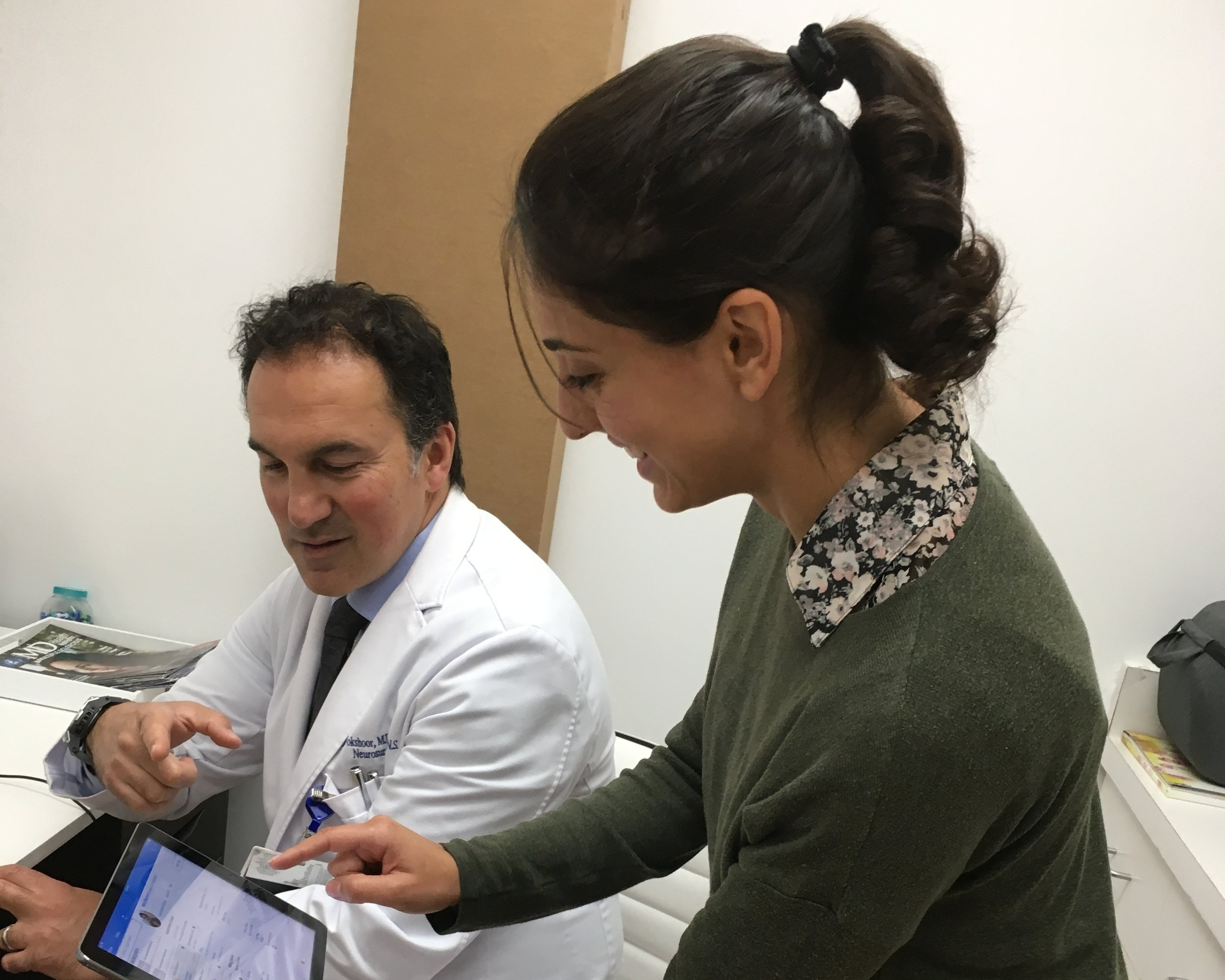 Scribe during Clinic - We will teach you how to scribe for Dr. Vokshoor during his clinic. You will get to meet and interact with multiple patients, and observe various appointments from neurosurgical consultations to post-operative follow ups.