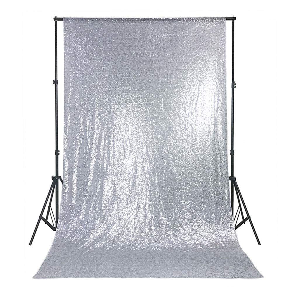SILVER GLITTER BACKDROP