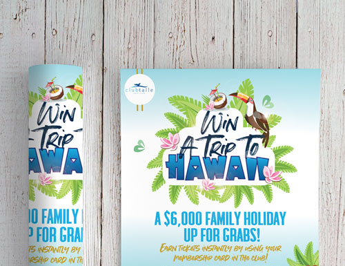 Club Talle Hawaii Holiday A1 Poster
