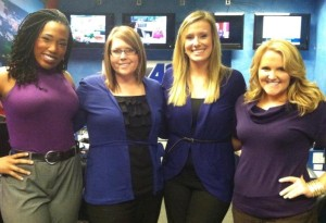 Kristen Whitman, AL '04 and the Fox 42 Crew in 2012