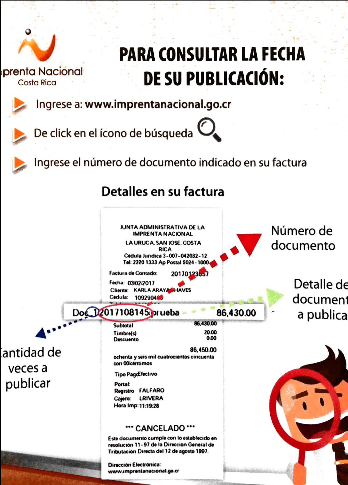 Proceso para revisar publicaciones en La Gaceta.