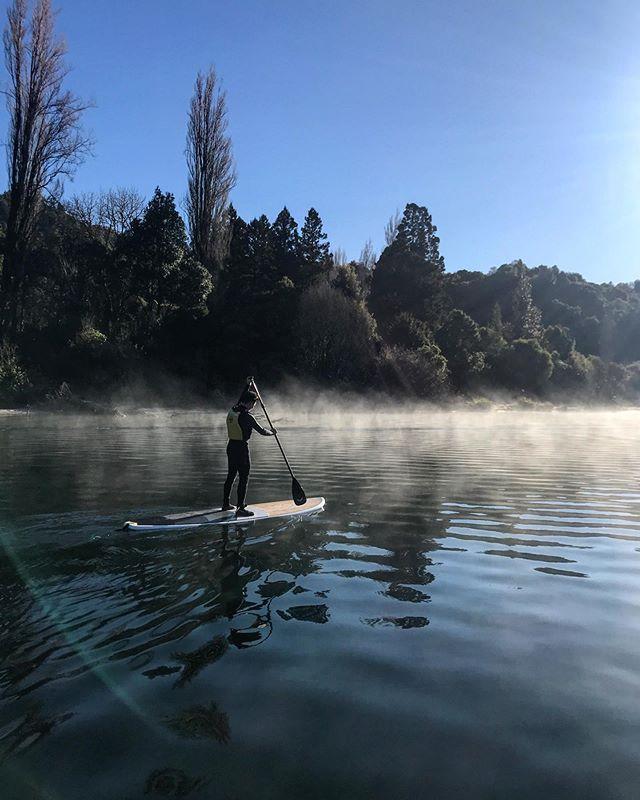 What a stunning morning to be out on lake Tarawera!! We love this place!! . . . . #tourism #rotoruanz #paddleboardrotorua #SUP #paddle #NZ